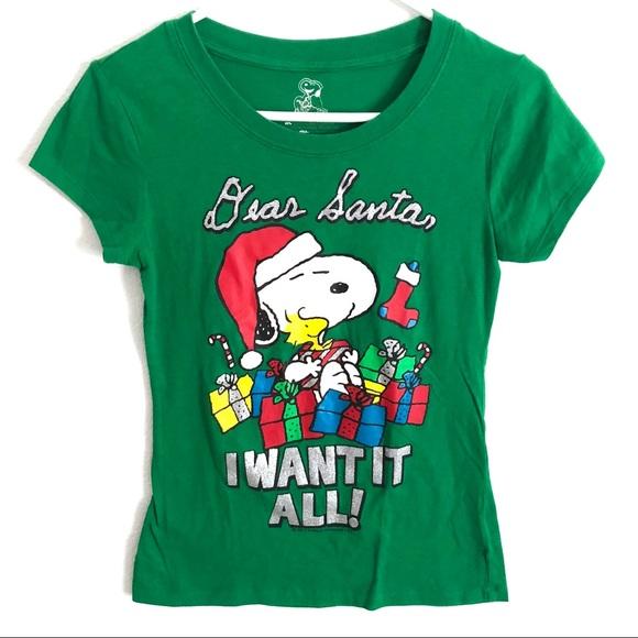 green snoopy peanuts christmas shirt